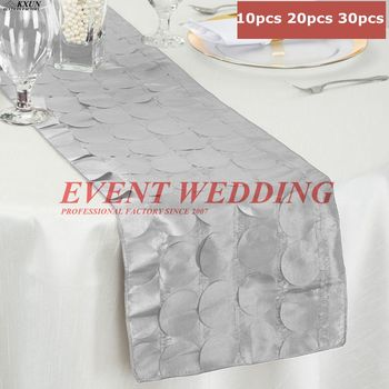 Factory Design Embroidered Petal Run Table Runner Tablecloth Runners For Wedding Decoration