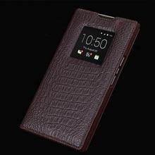 Wobiloo Haute Qualité Flip Sac pour Blackberry Priv Cas Réel Cas en cuir Fenêtre Entreprise de Couverture de Téléphone Shell pour Black Berry Priv