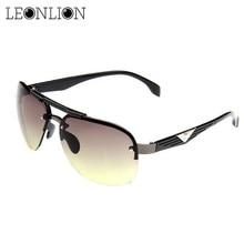 ФОТО leonlion 2017 classic vintage sunglasses man driving hd big frame sun glasses women brand designer uv400 outdoor oculos de sol