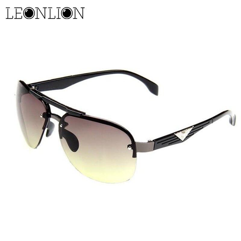 LeonLion 2019 Classic Vintage Sunglasses Man Driving Big Frame Sun Glasses Women Brand Designer UV400 Outdoor Oculos De Sol
