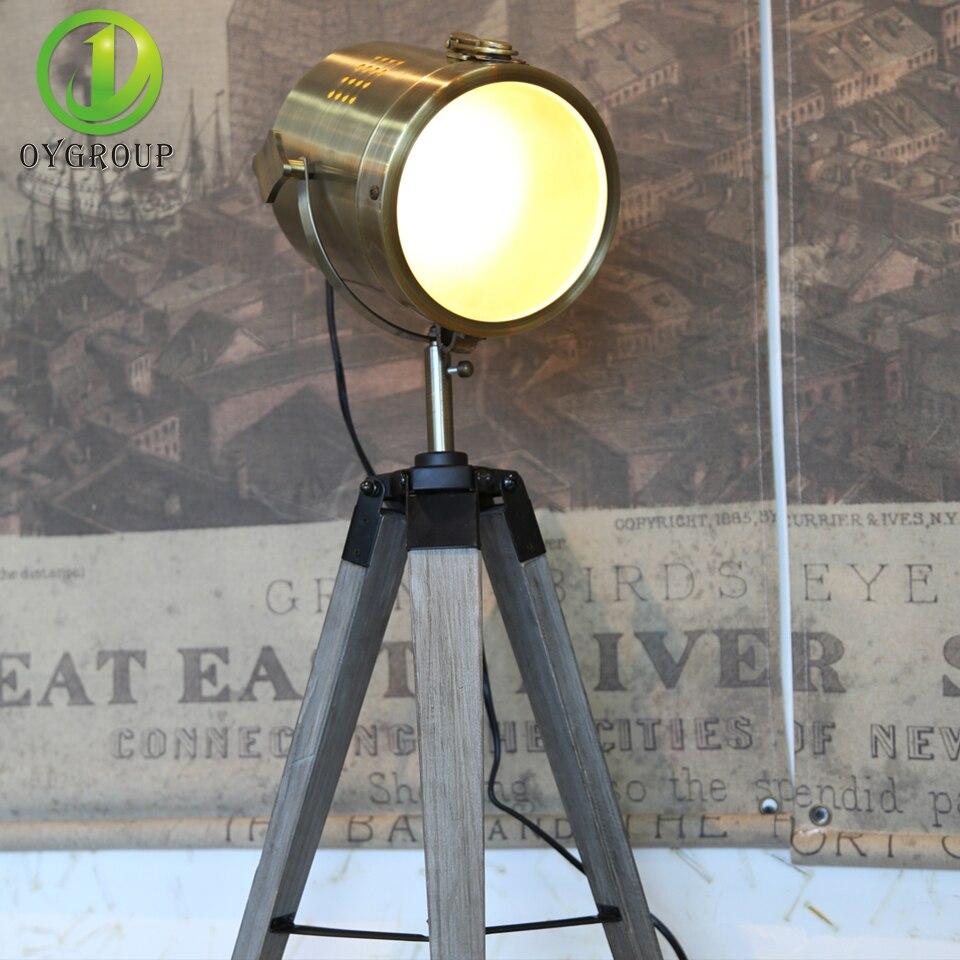 Retro Holz Stativ Tisch Lampe Scheinwerfer Lampen Fotografie Schreibtisch Lichter Stand Kreative Wohnzimmer OY16T10K