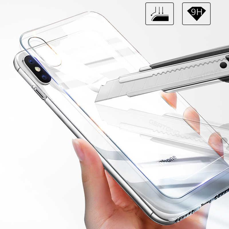 GerTong Anteriore E Posteriore In Vetro Temperato Per il iphone XS MAX XR X 8 7 Più 6 6 s 5 5 s 5c SE 4 4 s Protezione Dello Schermo Full Body Pellicola Della Copertura