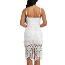 INDRESSME 2017 New Fashion Casual Straight Solid Sleeveless Lace Midi Spaghetti Strap Strapless Bandagedress Highquality