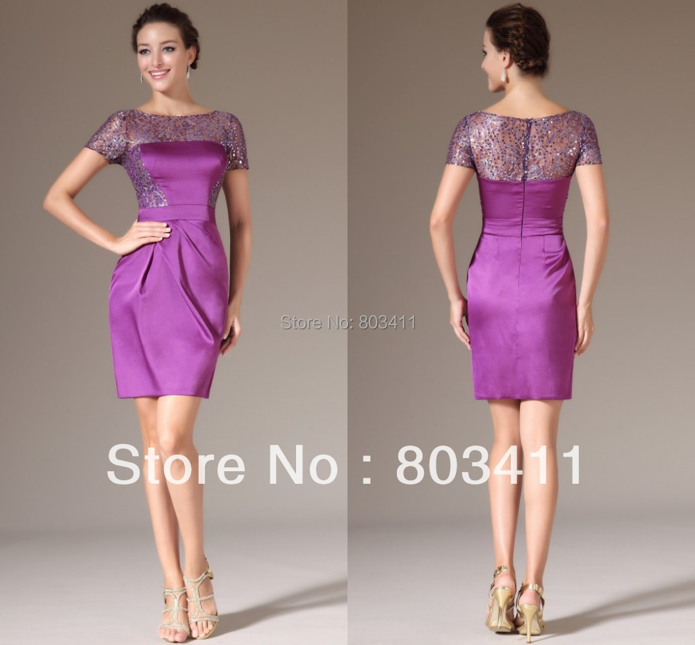 Aliexpress.com : Buy Freeshipping New Purple Short Sleeves ...