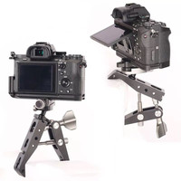 Metal Rotary Arm Crab Claw Clamp Clip Bracket For Camera Studio Flash Light Stand Boom Tripod Monopod