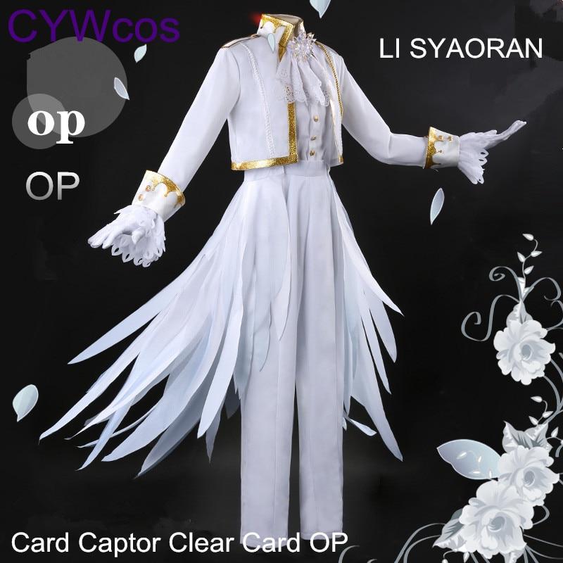 Card Captor Cosplay LI SYAORAN KINOMOTO SAKURA Tarjeta clara OP - Disfraces