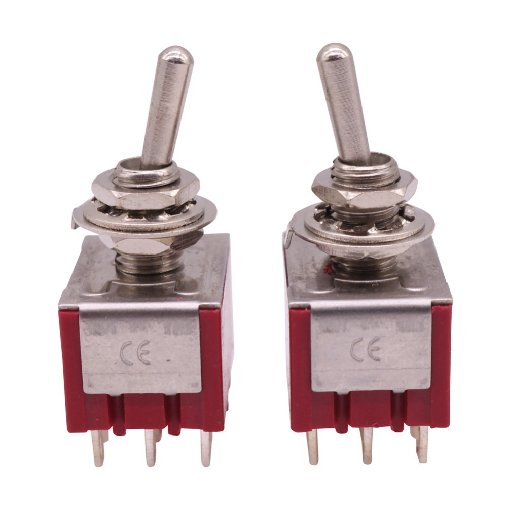 20 Pcs ON-OFF-ON 9 Pin 2 Position Mini Latching Toggle Switch 2A 250V AC/5A 120V AC Switch Accessories Wholesale