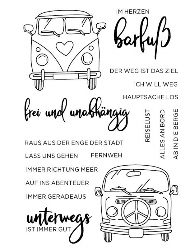 New German Spanish Italian Words Transparent Clear Silicone Stamp