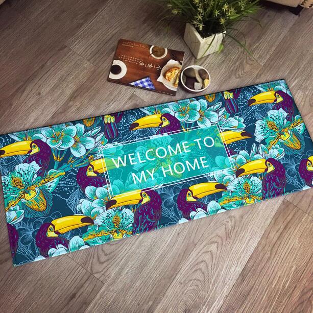 Nordic Welcome to my Home Printing Doormat Area Rugs Floor Carpet Non-slip Floor Door Mats for Living Room Kitchen Floor Stairs