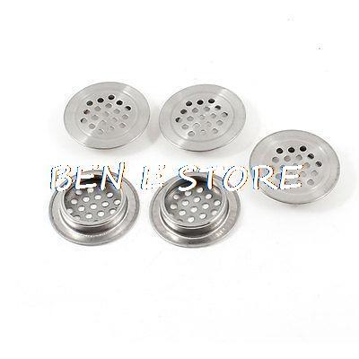 Round Design Metal Air Vent Ventilation Louver 29mm Dia Botton 5 Pcs