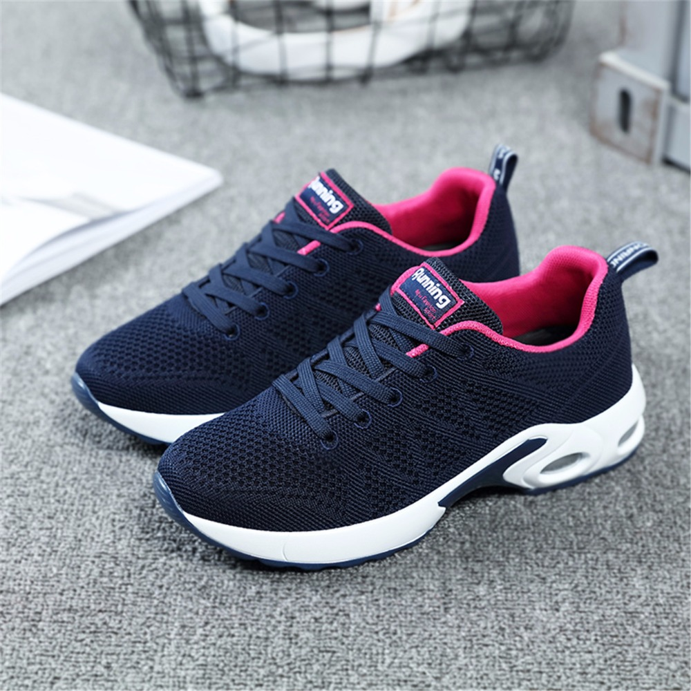 2018 Autumn Sneakers For Women Breathable Mesh Running Shoes Damping Sport Shoes Woman Outdoor Jogging Blue Walking Shoes A22