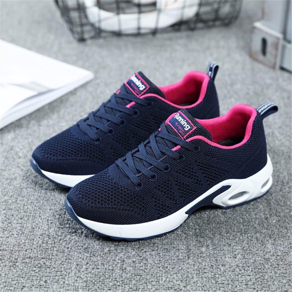 2018 Autunno scarpe Da Tennis Delle Donne Mesh Traspirante Runningg Scarpe Smorzamento Scarpe Sportive Donna Blu All'aperto A Piedi zapatos de mujer betis