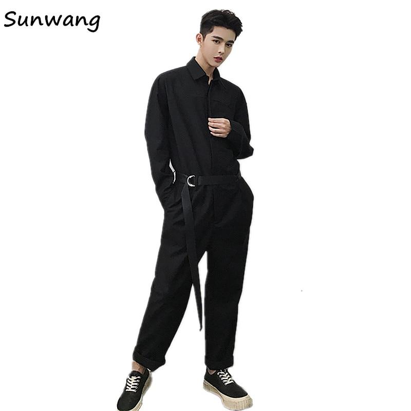 3dc9d7ffbe82 Harajuku Men s Casual Pants Unique Designer Loose Harem Man Joggers Pants  Overalls Fashion Jumpsuit Rompers For