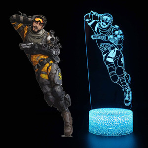 Image 4 - New 3D illusion Led Lamp Apex Legends Pathfinder Action Figure Night Light Protector For Kids Present APEX toys For Gamers
