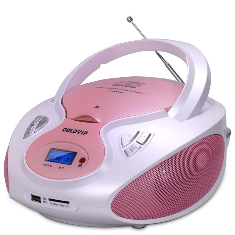 Lecteur cd haut-parleur CD Portable multifonction pour étude support d'éducation prénatale lecteur CD d'entraînement prénatal USB/SD