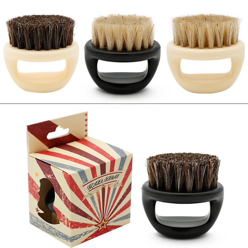 Image 2 - New Men's special Wild boar bristle beard brush Comb set Plastic beard comb beard care set Comb Beard tool brushes Hot Selling-in Combs from Beauty & Health