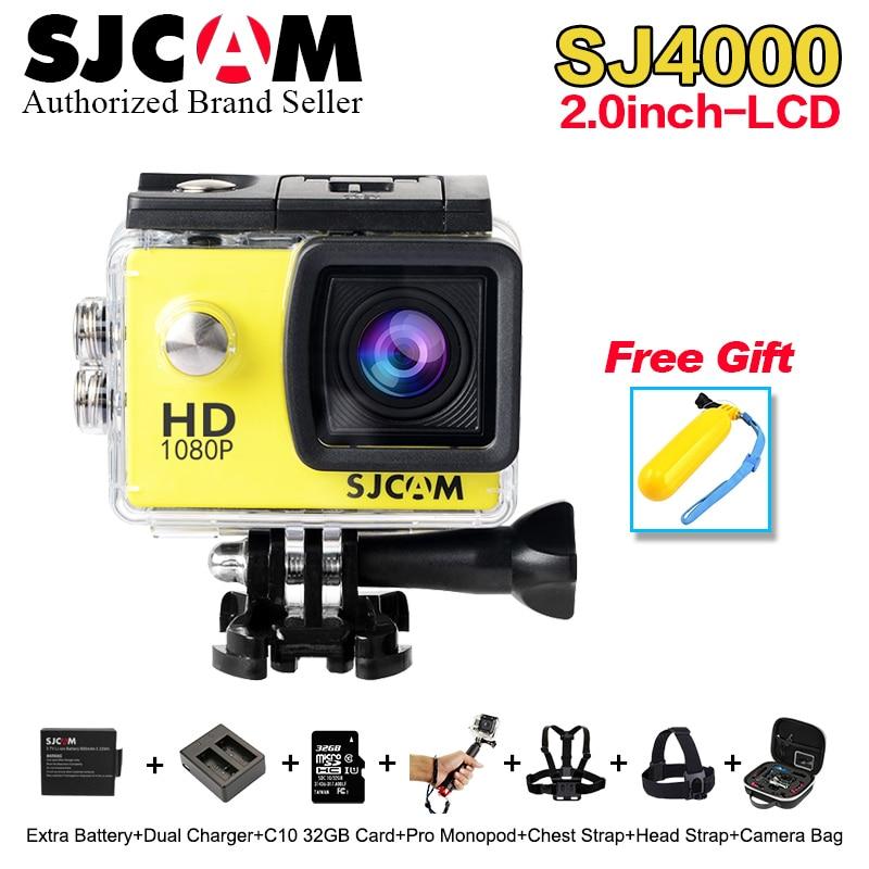 2018 Newest Original SJCAM SJ4000 2.0 LCD Screen Action Camera Upgrade SJ CAM 4000 Series 30m Waterproof Mini M10 Sport DV cam original sjcam m10 sport action camera hd 1080p h 264 1 5 lcd 12mp cmos mini dv 30m waterproof camera dvr sj cam