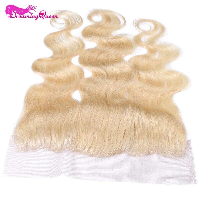 Мечтая Queen Hair #613 Цвет Средства ухода за кожей волна Кружево фасады Синтетическое закрытие волос бразильский Человеческие волосы блондинка ...