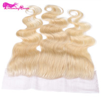 Dreaming Queen Hair Body Wave Lace Frontals Closure Brazilian Human Hair 613 Color Blonde 13x4 Closure
