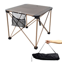 GeerTop Folding Camping Table Aluminum Waterproof Adjustable Install Outdoor Tables Laptop Bed Desk for Picnic BBQ Hiking Game