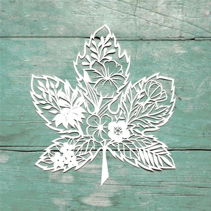 YaMinSanNiO Maple Leaf Flower Metal Cutting Dies for Scrapbooking New 2019 Craft Die Cut Card Making Embossing Stencil