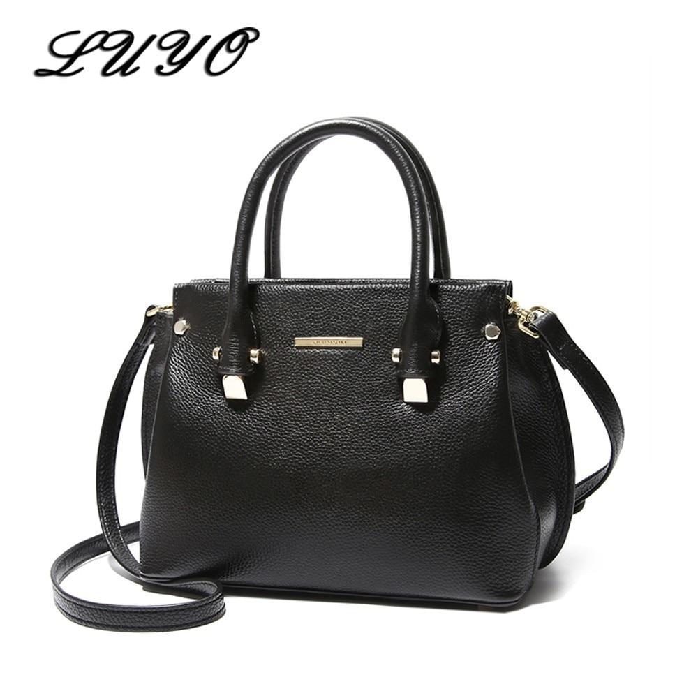 купить LUYO Brand Fashion Genuine Leather Bag Women Messenger Bags Designer Bolsa Luxury Handbags Bolsos Mujer Shoulder Crossbody Bags по цене 4398.08 рублей