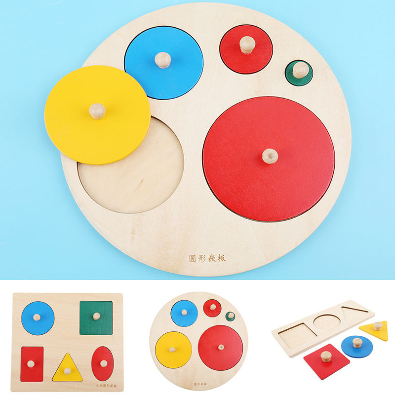 Wooden Geometric Puzzle For Children Gifts Montessori Kids Toys Board Kids Educational Jigsaw Stacker Toddler Wooden Toys