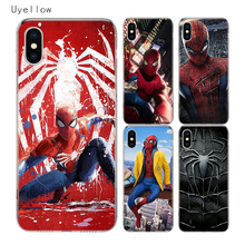 Uyellow Spiderman Marvel Silicone Soft Case For Iphone 5 6 6S 7 8 9 10 Plus Trend TPU Apple X XR XS MAX Cover