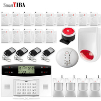 SmartYIBA 99 Wireless 4 Wired Zones GSM Alarm System Alarmas With Home Security Intruder Alarm Kits