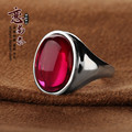 Love 925 Sterling Silver party Natural semi-precious stones red corundum red rings spring atmosphere fashion girlfriend gift