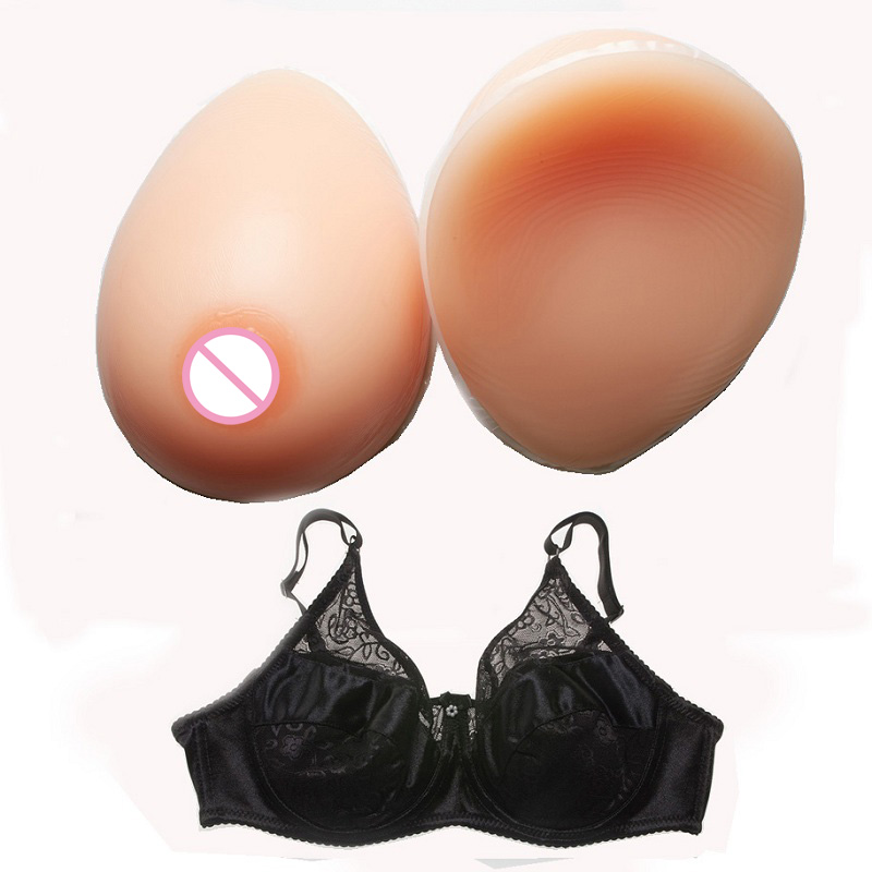 800g/pair Silicone Breast Forms Artificial Fake Breast For Man Transvestite Crossdress With Special Bra 2000g silicone breast forms false breasts mastectomy boob prosthesis transvestite crossdress bra artificial breast skin color