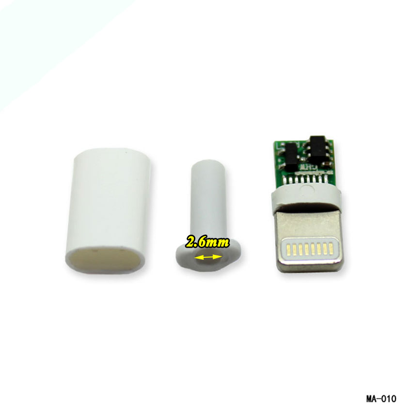 cltgxdd 10set/lot 3 in 1 DIY Welding wire USB male plug <font><b>connector</b></font> for <font><b>iPhone</b></font> male plug Motherboard with IC with shell image