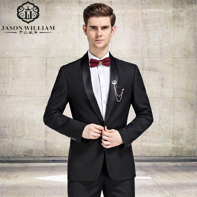 Ln026 2 Pieces Black Suit Latest Coat Pant Designs Suit Men New