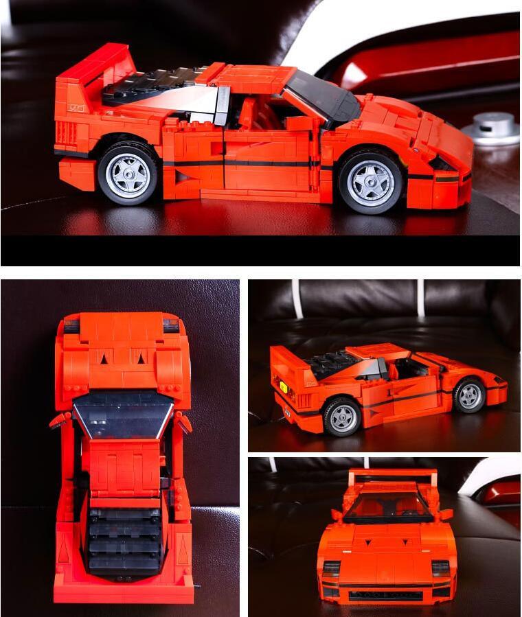 L Model Compatible with Lego L21004 1158PCS Sports Car Models Building Kits Blocks Toys Hobby Hobbies For Boys Girls lepin 21004 1158pcs ferrarie f40 sports car model building blocks kits bricks toys compatible with 10248