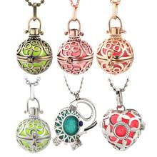 Mexican Chime Aromatherapy Cage Necklace Vintage Hollow Locket Colorful Music Ball Pregnancy Woman Pendant Summer Charm Jewelry(China)