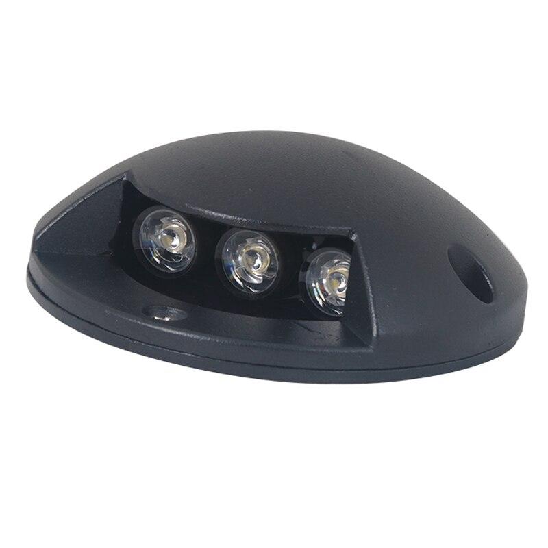 Ip67 3 w led footlights lâmpada de