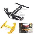 Motorcycle Adjustable Angle Aluminum License Number Plate Frame Holder Bracket For honda MSx125 MSX300 msx300