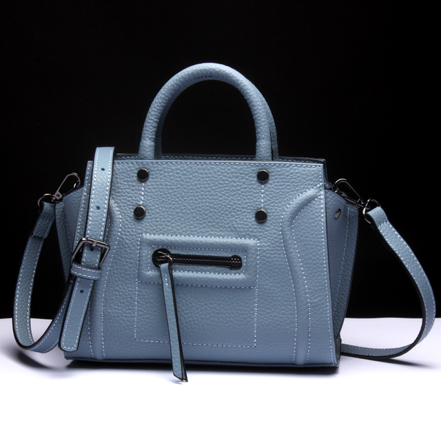 2017 New Fashion Leather Handbags Ladies Leather Bag Shoulder Messenger Bag  Handbag L6061 415c7acf2d965