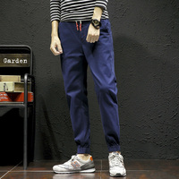 2018 Spring New Product Japanese Male Solid Color Leisure Time Pants Ankle Length Pants Easy Bound
