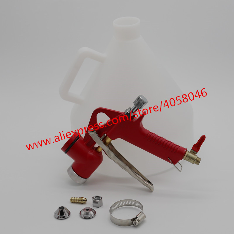 Free shipping Air Hopper 5L Spray Gun Paint Texture Tool Drywall Wall Painting Sprayer with 3