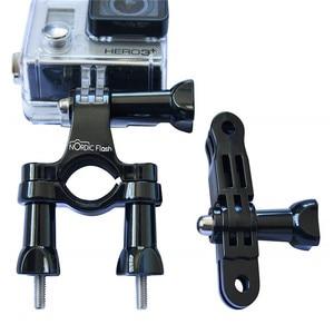 Image 5 - 자전거 용 GoPro 시트 포스트 클램프 용 핸들 바 자전거 마운트 Go Pro 스포츠 카메라 용 금속 나사 + 3 방향 조정 피벗 암