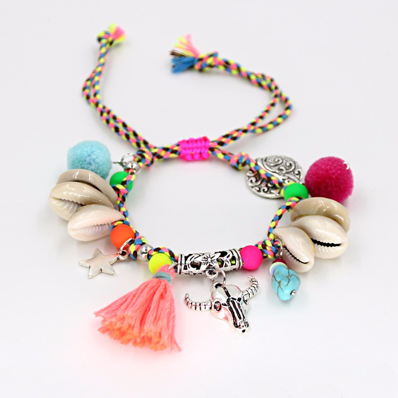 VONNOR Jewelry Women's Bracelets Bohemian Colorful Accessories Handmade Beads Shells Alloy Pendant Friendship Strand Bracelets 2