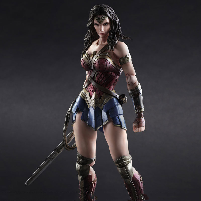 Play Arts Kai PA 27cm Wonder Woman DC Justice League Super Hero PVC Action Figure Collectible Model Toy play arts kai rise of the tomb raider lara croft pvc action figure collectible toy 27cm