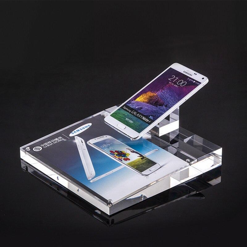 10 pcs lote limpar universal do telefone movel de acrilico titular exibicao celular stand para samsung