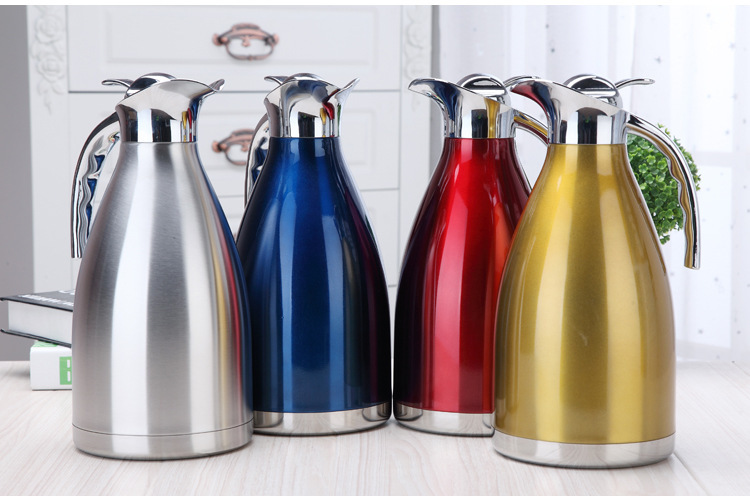 4 Color 1L 1 5L 2L Coffee Thermos Cup Stainless Steel Teapot Vacuum Flasks Thermoses Garrafa