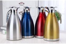 4 Farbe 1L 1.5L 2L Kaffee Thermoskanne Tasse Edelstahl Teekanne Isolierflaschen Thermoskannen Garrafa Termica Infantil Thermoflasche