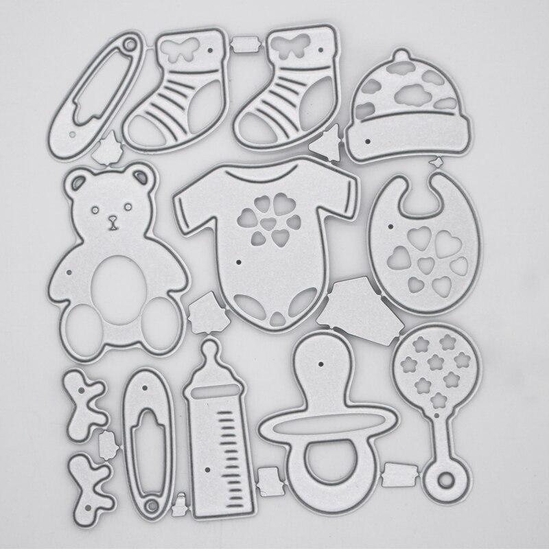Товары для малышей, украшения, металлические стальные рамы, резные штампы, сделай сам, скрап, заказ, фотоальбом, тиснение, бумажные карты 10,5*8,...
