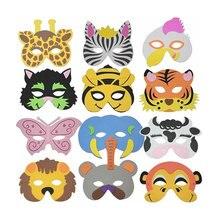 15PCS,EVA Child Kids Game Dance Party Costume Masquerade  Animal Face Mask Pretend Play Toys,1SET=15Random Designs