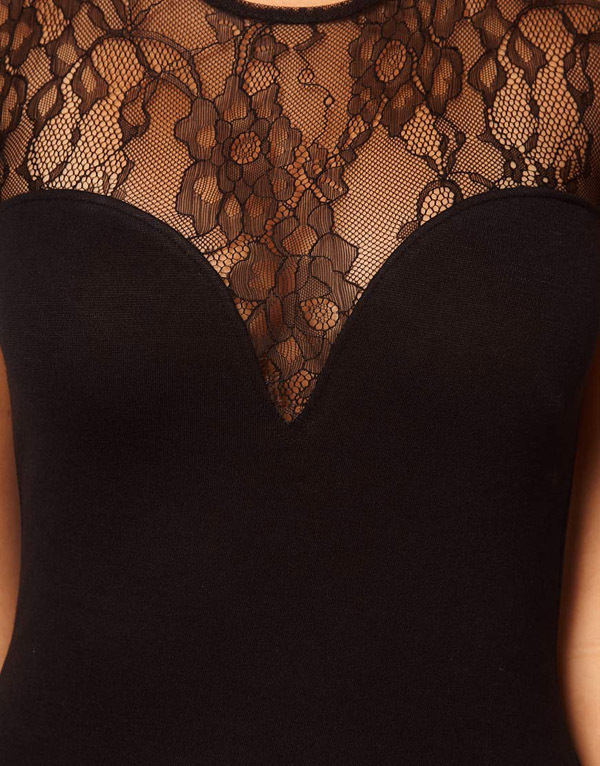 Charmed Sleeveless 19 Sexy Slim Lace Patchwork Dress European style Nightclub Split Blackless Mini Sheath Dress Robe Femme q** 8