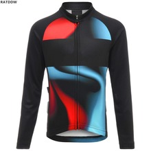 2019 Winter Fleece Cycling Jersey Long Sleeve Ropa Ciclismo Road Breathable Winter Bike Clothing Bicycle Shirt Maillot Clothes